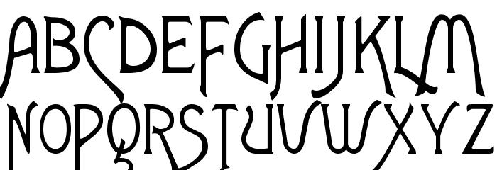 Agatha Font UPPERCASE