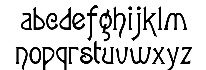 Agatha Font LOWERCASE