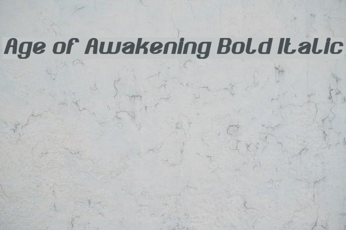 Age of Awakening Bold Italic Fuentes examples