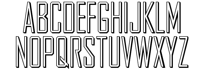 AgencyGothic Schriftart Kleinbuchstaben