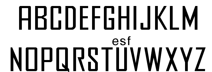 Agency Font LOWERCASE