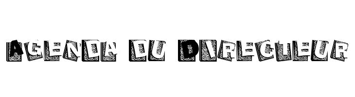 Agenda du Directeur  Free Fonts Download