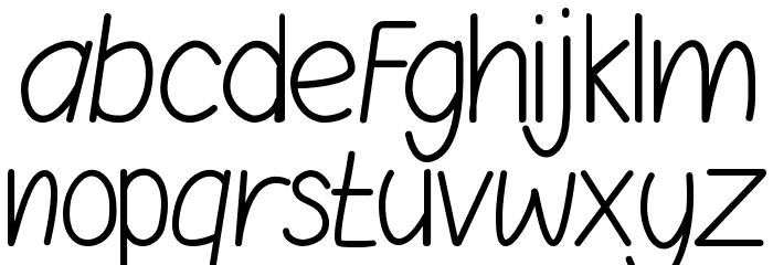 AgengSans Schriftart Kleinbuchstaben