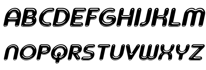 Ageta Chubby Demo Italic Font UPPERCASE