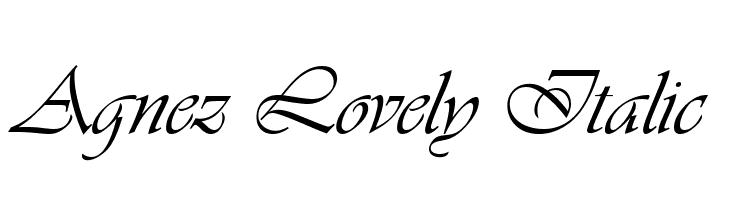 Agnez Lovely Italic  Descarca Fonturi Gratis