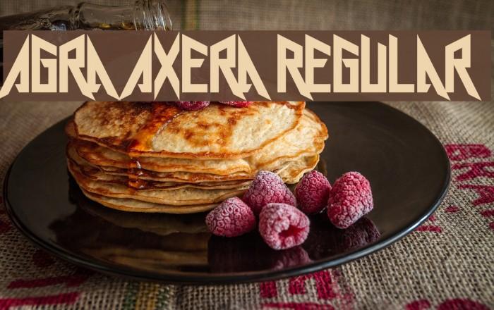 Agra Axera Regular फ़ॉन्ट examples