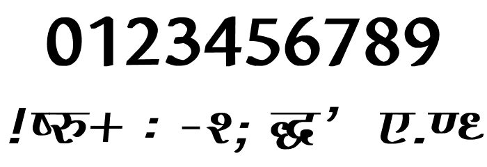 Agra Bold Font OTHER CHARS