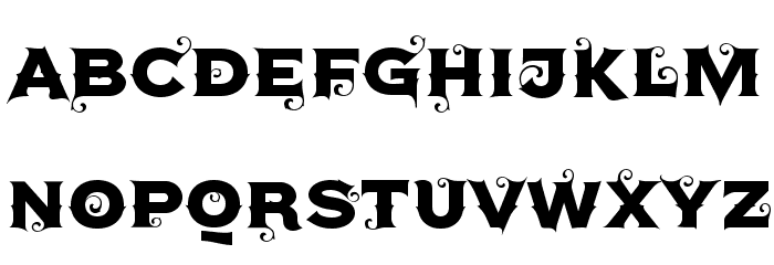 Agreloy Font UPPERCASE