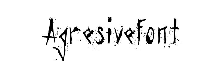 Agresivefont  Frei Schriftart Herunterladen