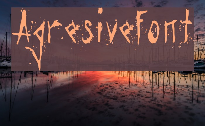 Agresivefont Font examples