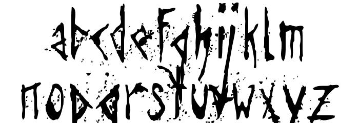 Agresivefont Font LOWERCASE