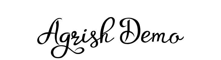 Agrish Demo  Free Fonts Download