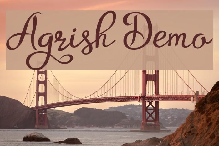 Agrish Demo फ़ॉन्ट examples