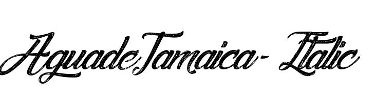 Agua deJamaica-Italic  नि: शुल्क फ़ॉन्ट्स डाउनलोड