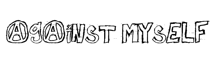 against myself  Free Fonts Download