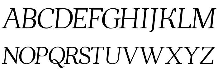 Ahellya Italic फ़ॉन्ट अपरकेस