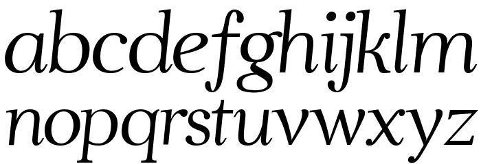 Ahellya Italic फ़ॉन्ट लोअरकेस