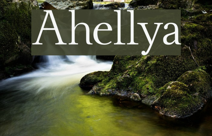 Ahellya Font examples
