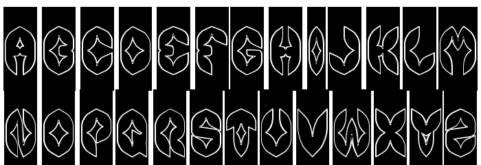 AIRPLANE-Hollow-Inverse Font Litere mari