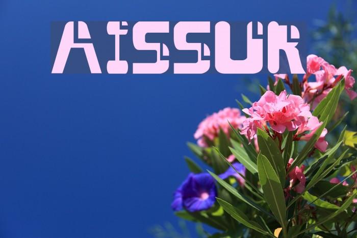 AISSUR Font examples