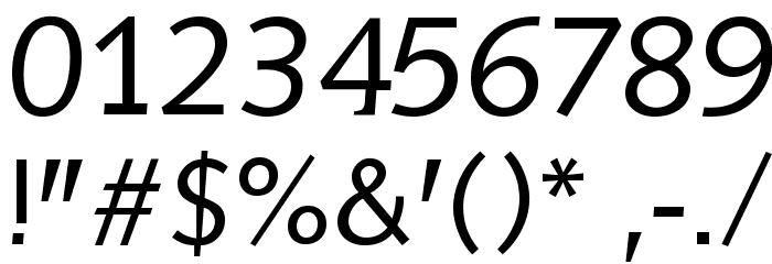 AidaSerifObliqueMedium Font OTHER CHARS