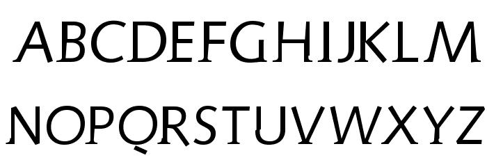 AidaSerifObliqueMedium Font UPPERCASE