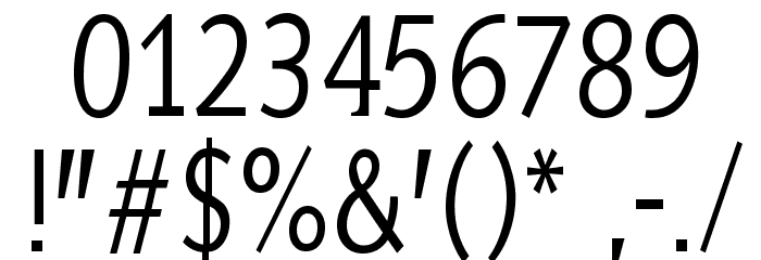 AidaSerifa-Condensed フォント その他の文字