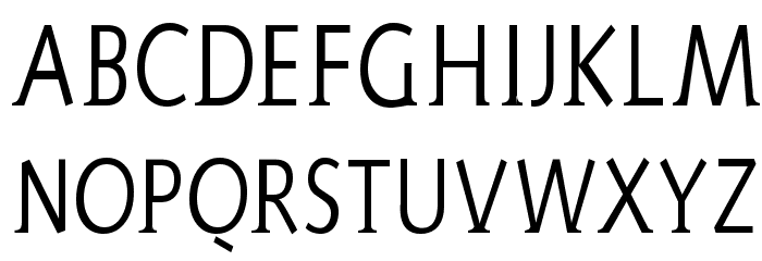 AidaSerifa-Condensed フォント 大文字