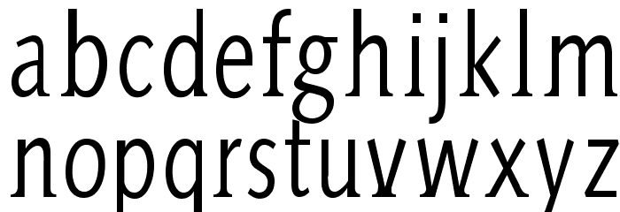 AidaSerifa-Condensed フォント 小文字