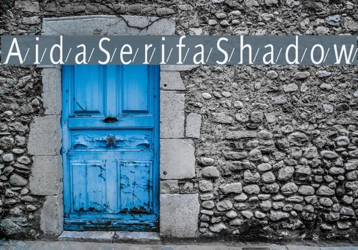 AidaSerifaShadow Шрифта examples