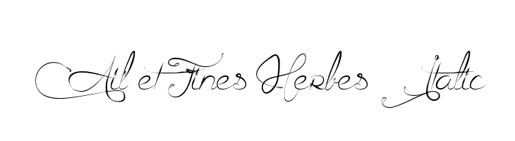 Ail et Fines Herbes Italic  Free Fonts Download