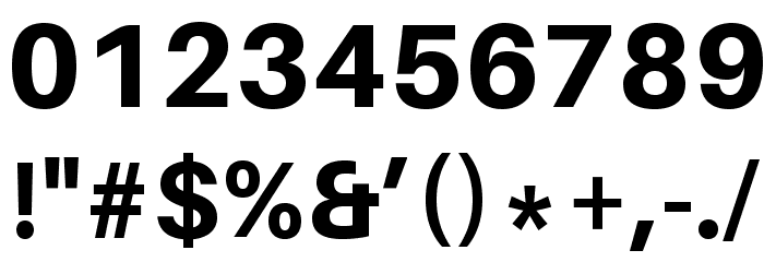 Aileron Heavy Font OTHER CHARS
