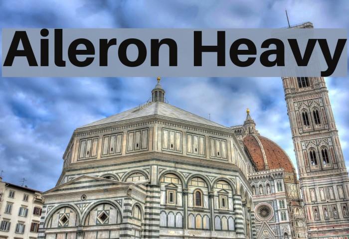 Aileron Heavy Font examples