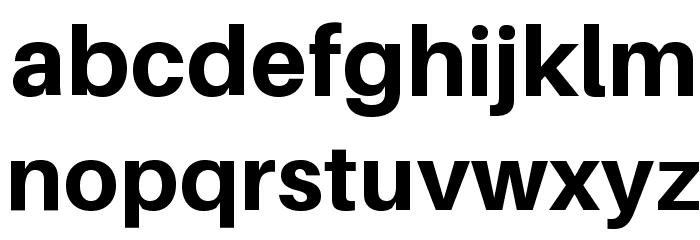 Aileron Heavy Font LOWERCASE