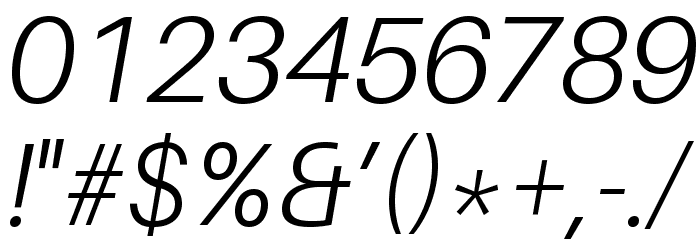 Aileron Light Italic Font OTHER CHARS