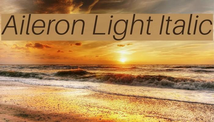 Aileron Light Italic Font examples