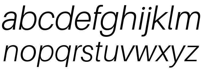 Aileron Light Italic Font LOWERCASE