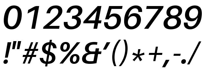 Aileron SemiBold Italic Font OTHER CHARS