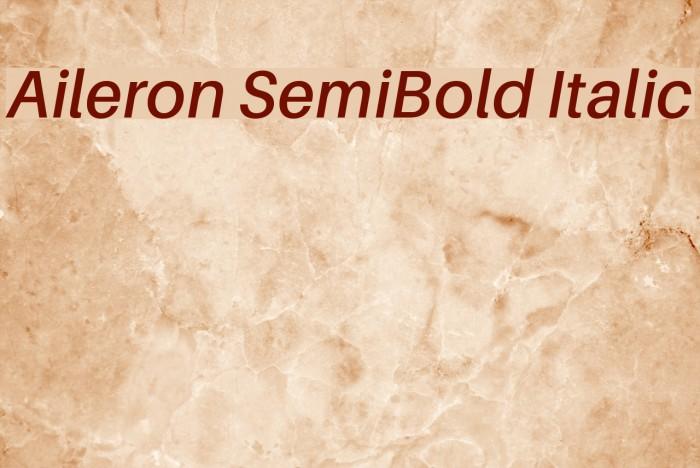 Aileron SemiBold Italic Font examples