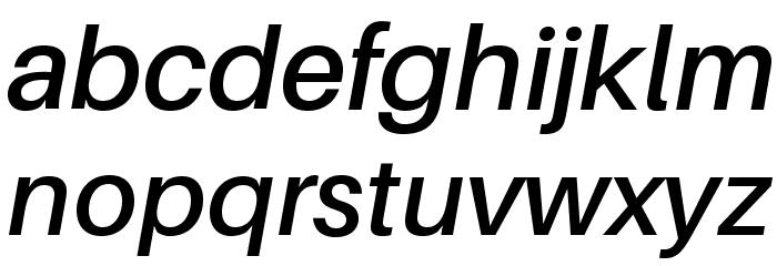 Aileron SemiBold Italic Font LOWERCASE