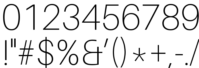 Aileron Thin Font OTHER CHARS