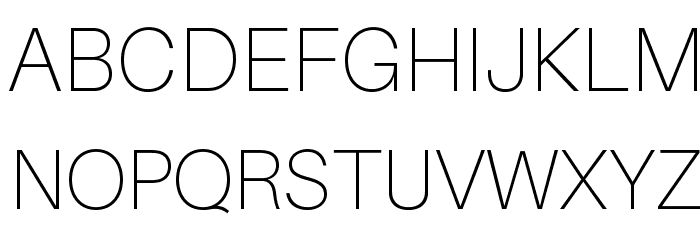 Aileron Thin Font UPPERCASE