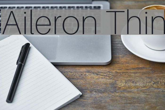 Aileron Thin Font examples