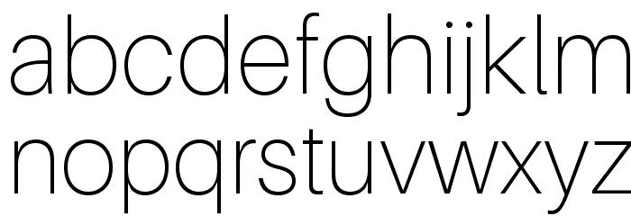 Aileron Thin Font LOWERCASE