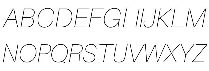 Aileron UltraLight Italic Font UPPERCASE