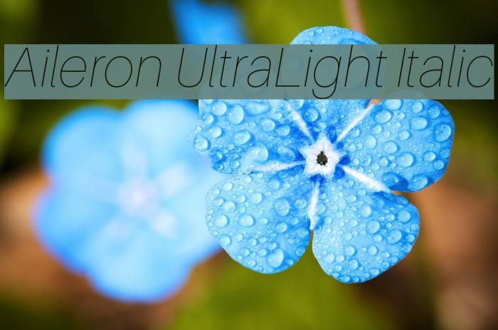 Aileron UltraLight Italic Font examples