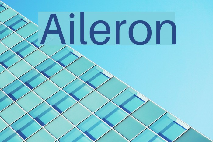 Aileron Font examples