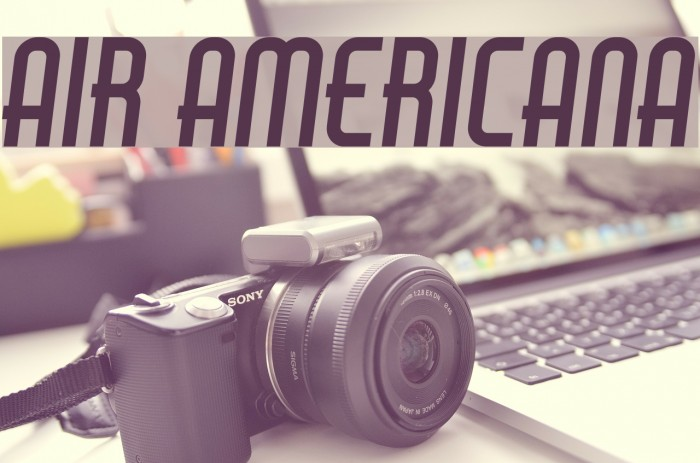 Air Americana Font examples