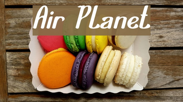 Air Planet Font examples