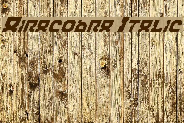 Airacobra Italic फ़ॉन्ट examples